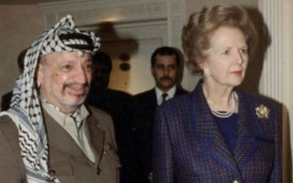 Arafat y Thatcher, en tiempo de la Guerra Fría.