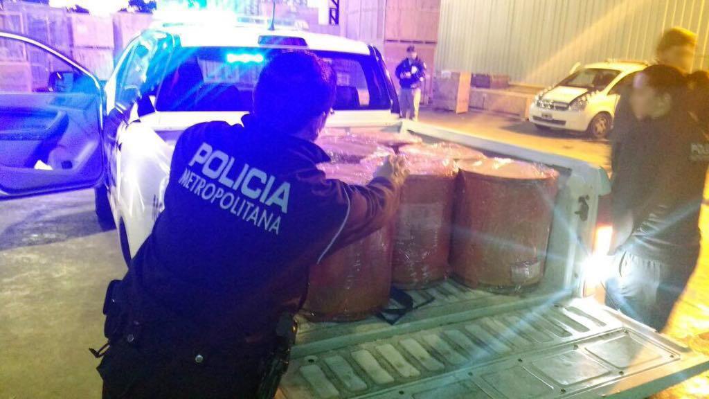 """Los tambores incautados por la denuncia """"anónima"""" de Gómez Centurión."""