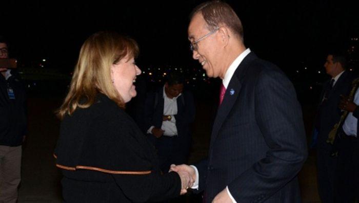 Canciller Susana Malcorra y Secretario General Ban Ki moon. Amigos desde hace años.