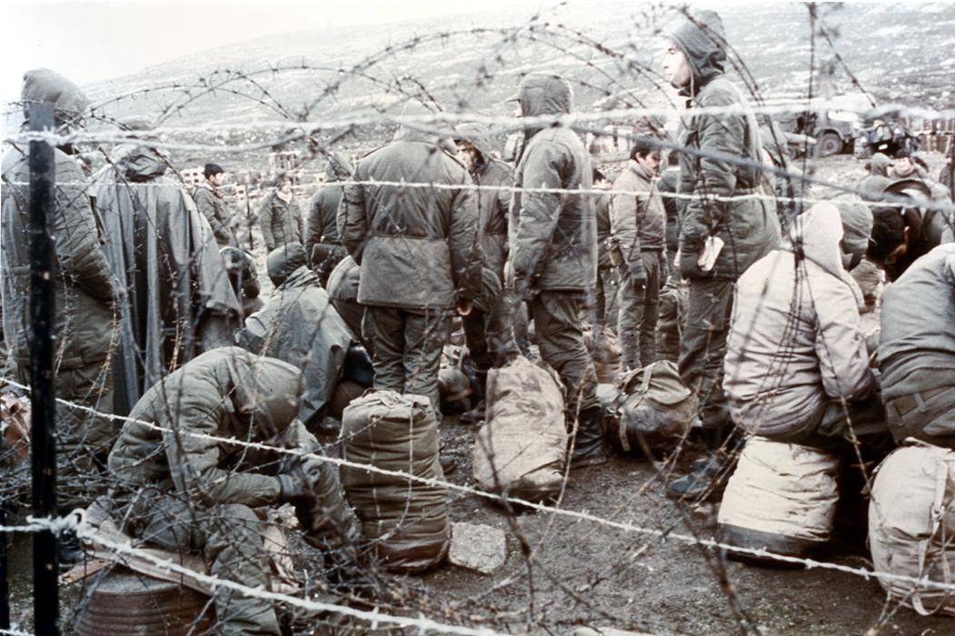 Puerto Argentino en manos de las tropas ingleses. 14 de junio de 1982.