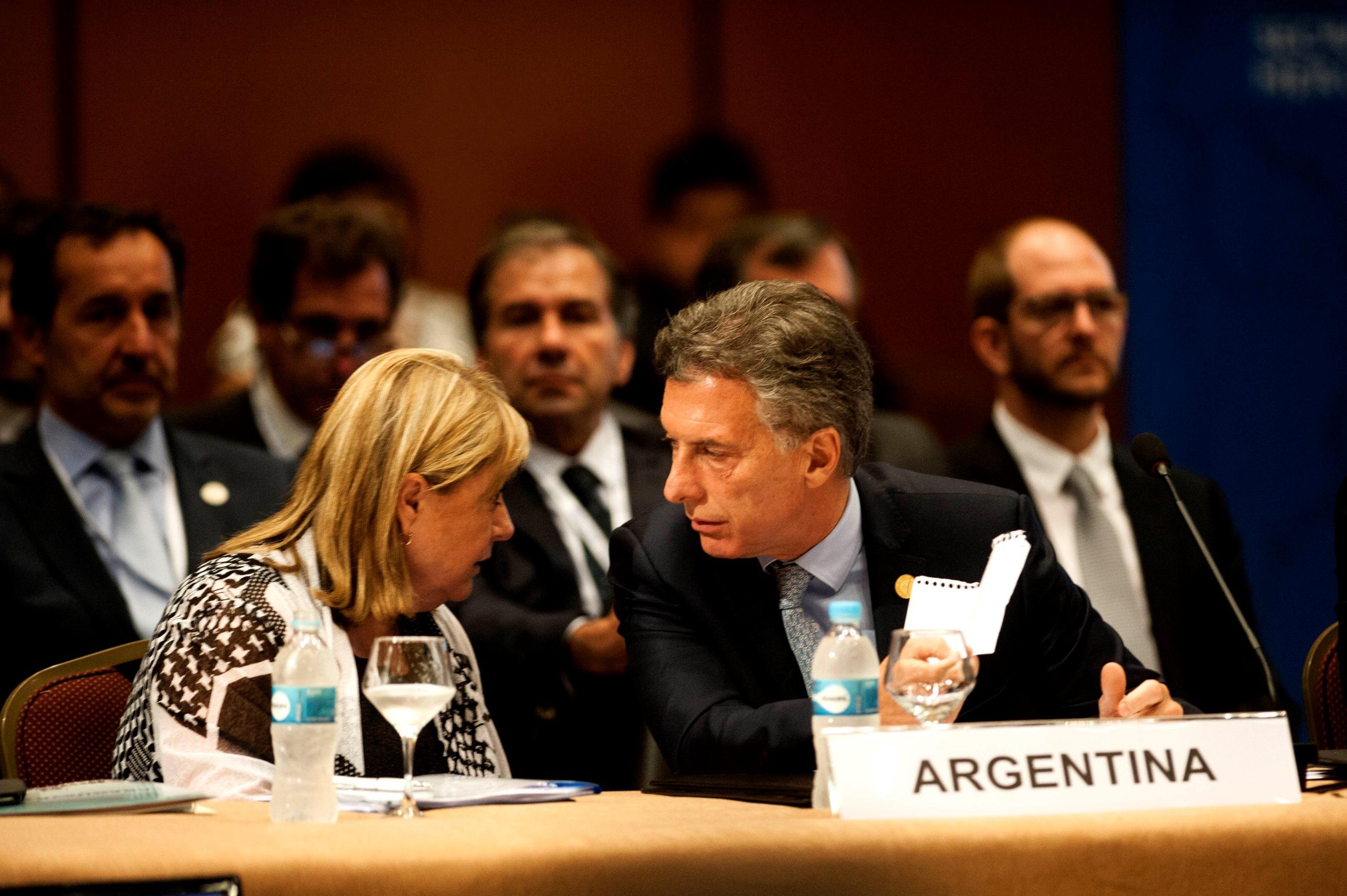 Macri y Malcorra en Naciones Unidas.