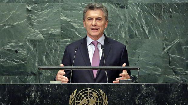 Mauricio Macri habla en la ONU.
