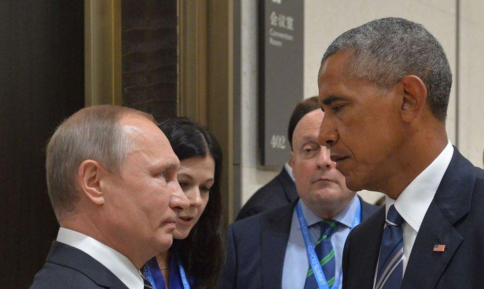 Putin y Obama, en el G20 realizado en China.