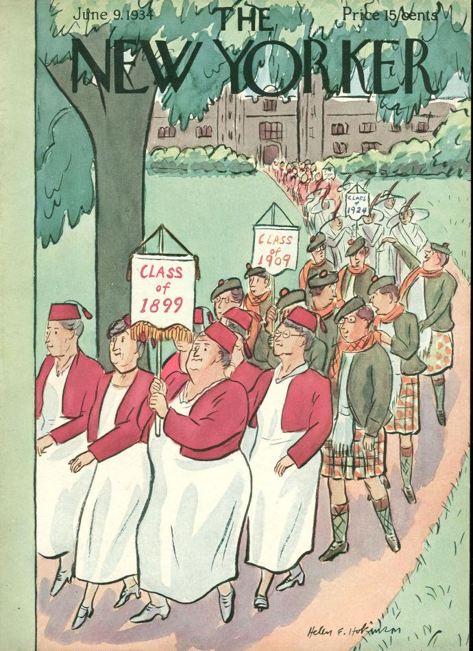 "June 9, 1934,"" by Helen E. Hokinson."