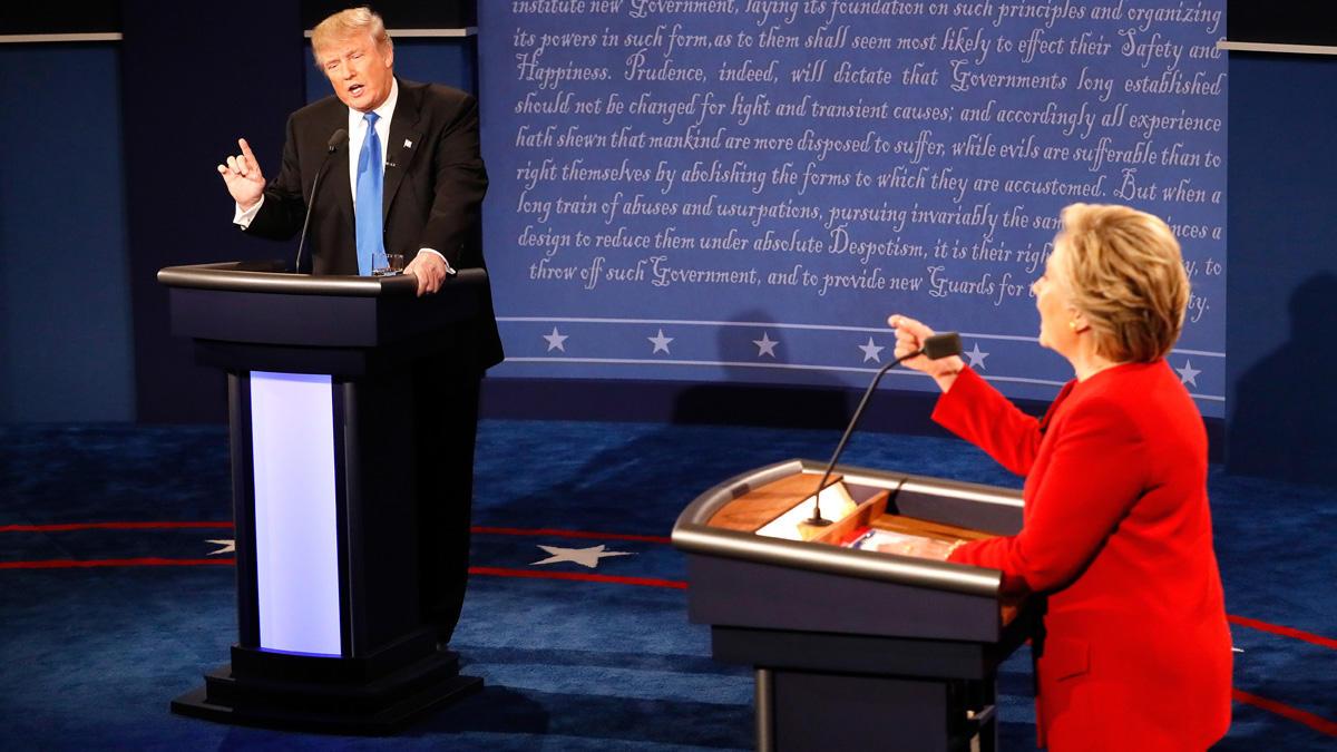 Primer debate presidencial entre Hillary Clinton y Donald Trump.