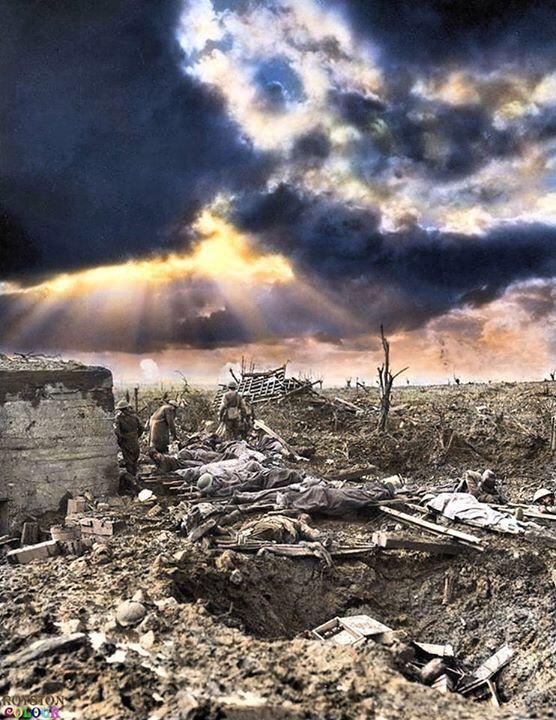 El sol en las trincheras. Un respiro en la tragedia.