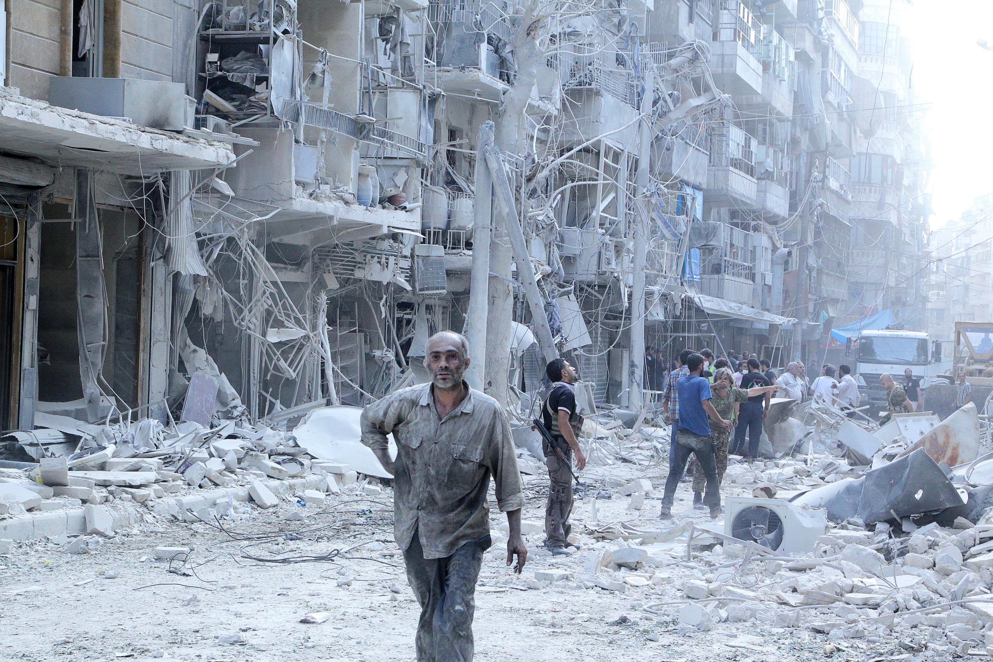 Los restos de Aleppo, después de la ofensiva de Al Assad.