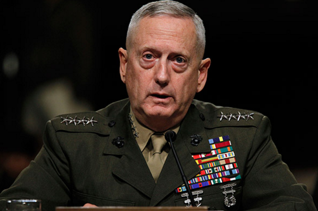 General retirado James Mattis, futuro secretario de Defensa. Lo llaman Mad Dog.