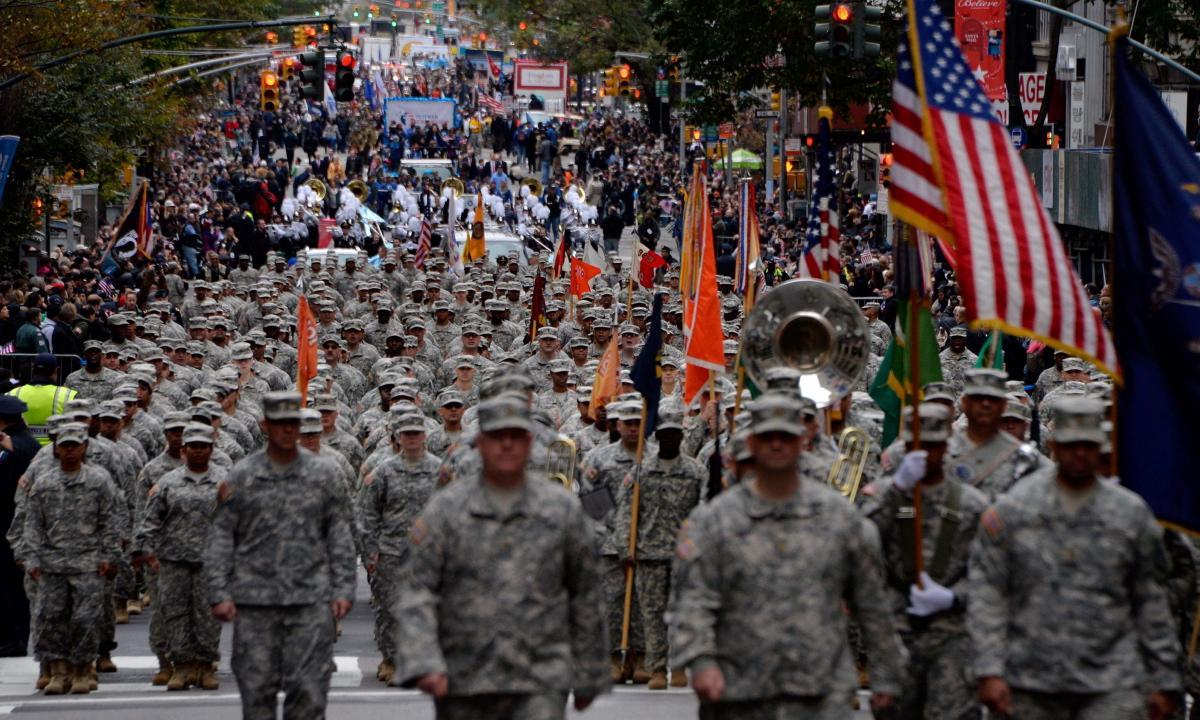Desfile militar en New York.