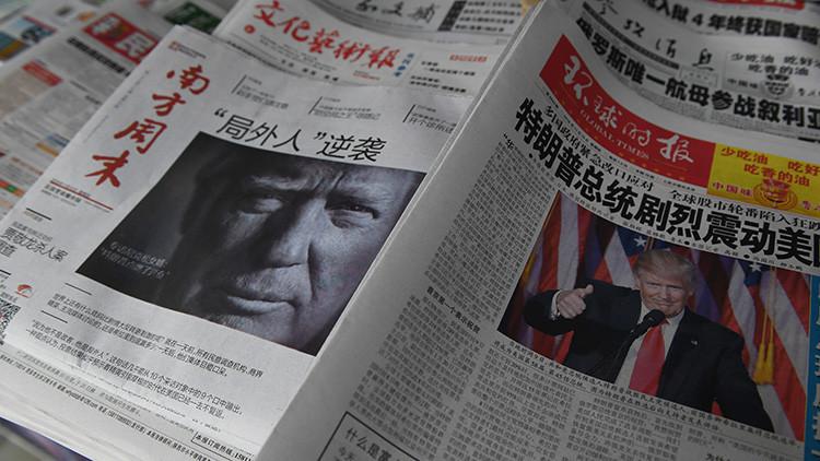 Portadas de los diarios chinos que amenazan a Trump
