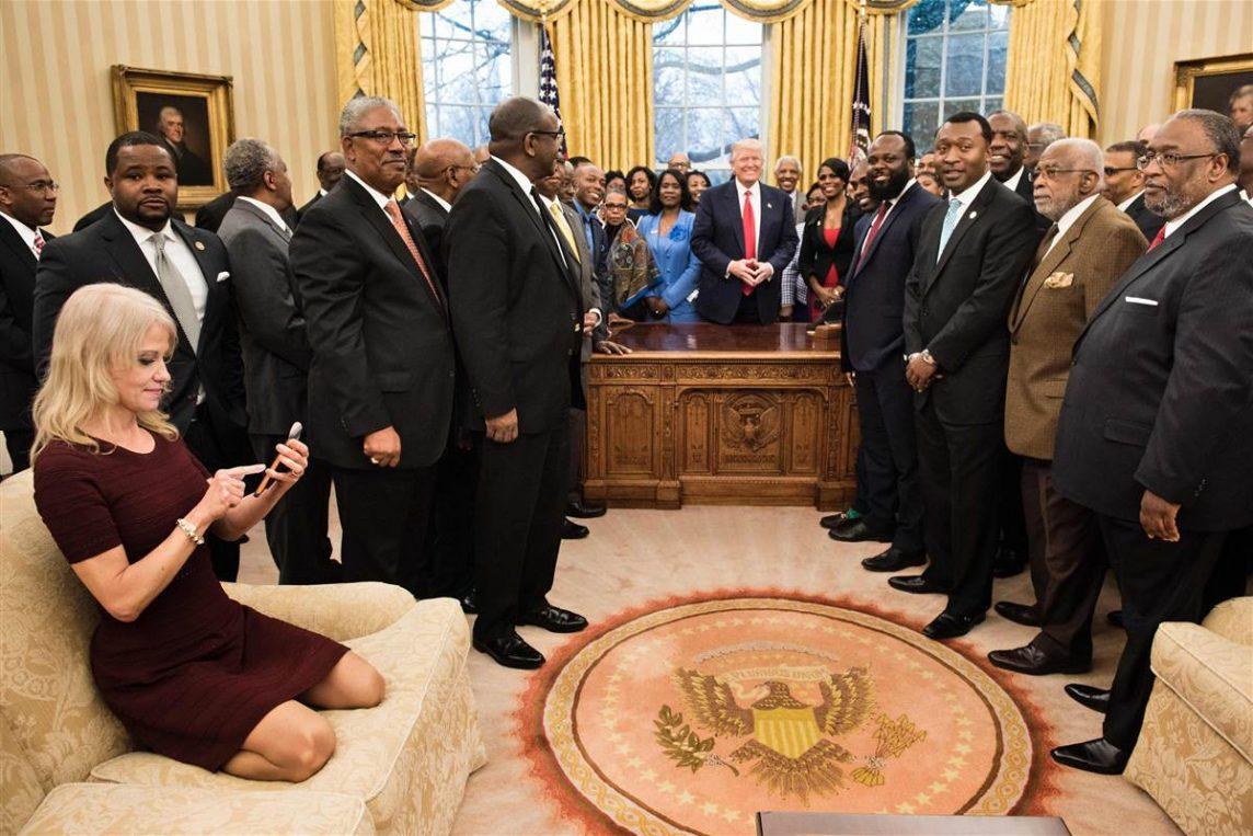 Kellyanne Conway, asesora del presidente Trump. Esta
